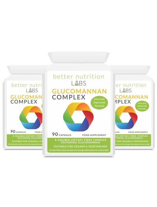 3X Glucomannan Complex - Glucomannan Fiber Complex (3 måneder forsyning, 270 Kapsler)