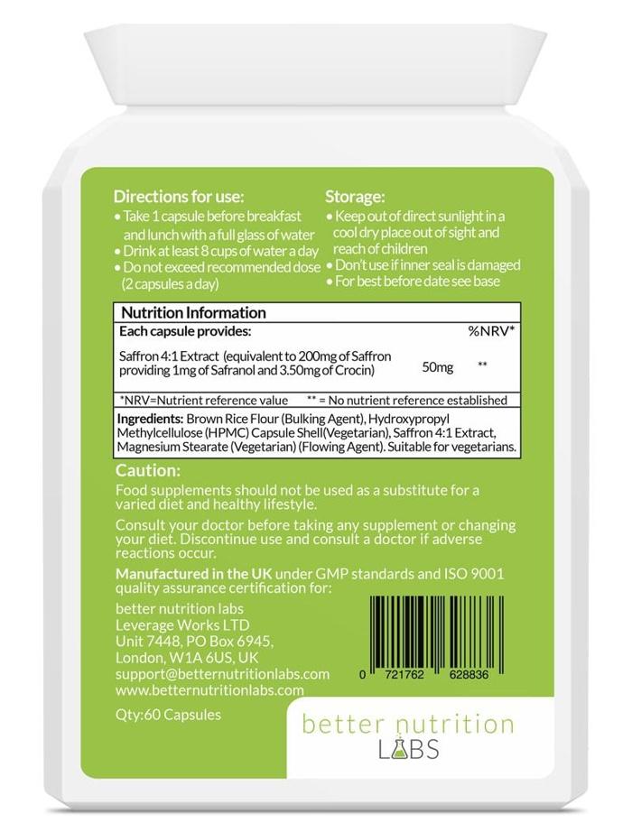 Saffron extract back - Saffron Extract (Extrato de Açafrão)