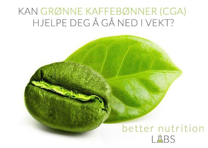 Can Green Coffee Bean CGA Help You Lose Weight NB - Kan grønne kaffebønner (CGA) hjelpe deg å gå ned i vekt?
