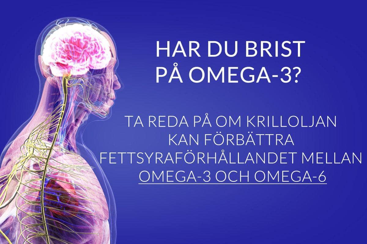 are you omega 3 deficient find out if krill oil can improve your omega 3 to 6 ratio SV - Har du brist på omega-3? Ta reda på om krilloljan kan förbättra fettsyraförhållandet mellan omega-3 och omega-6